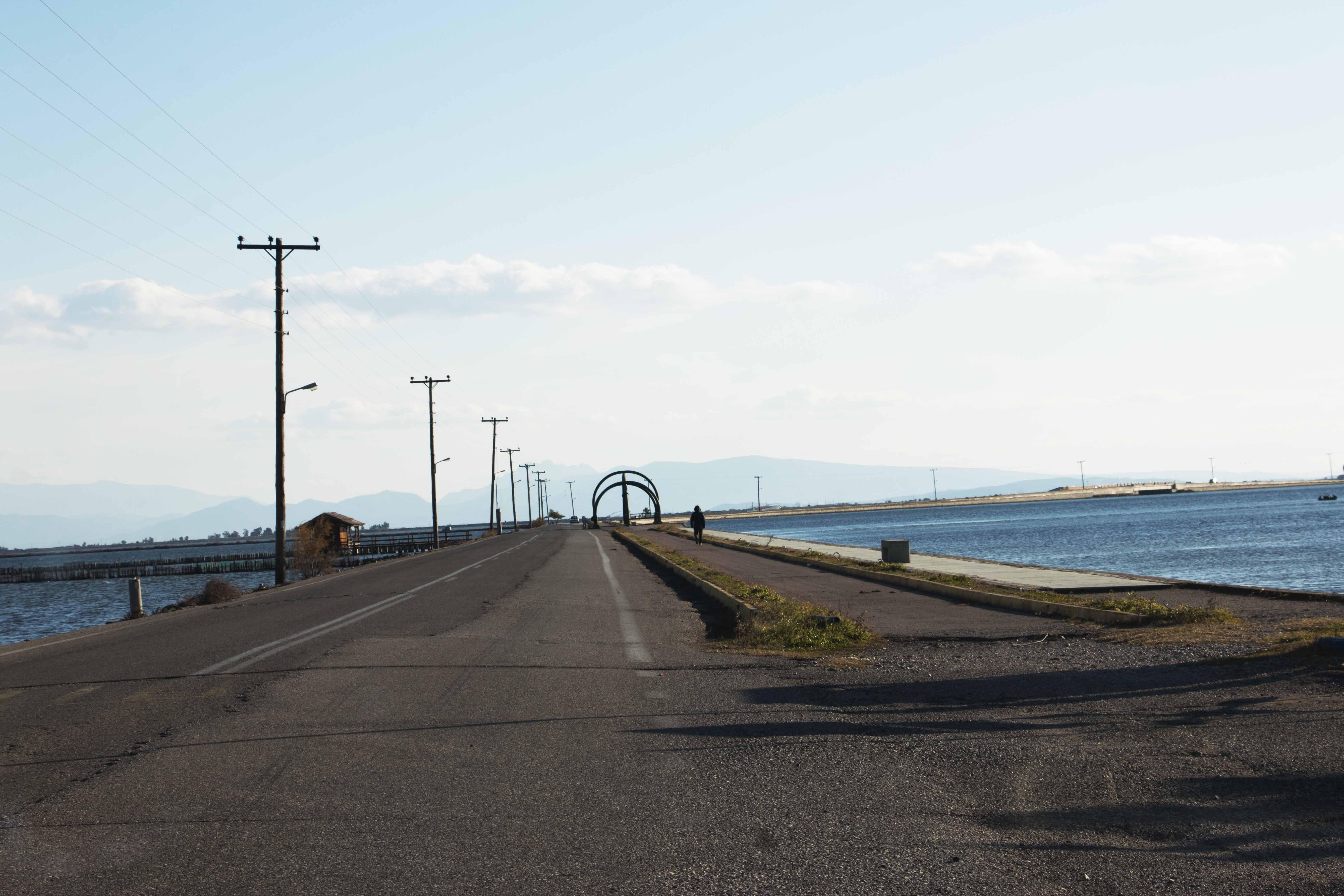 Λιμνοθάλασσα Κλείσοβας, δρόμος προς Τουρλίδα